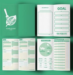 bullet journal ideas:  Clean Eating : Daily Planner Set ▹ for Clean Eating lifestyle people & Who want to lose weight with Healthy plan Printable PDF  This is COMPLETE