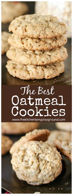 How to Make the BEST Oatmeal Cookies ~ bring together great thickness, soft and chewy middles, great texture, and fantastic flavor in these oatmeal #cookies! #oatmealcookies www.thekitchenismyplayground.com