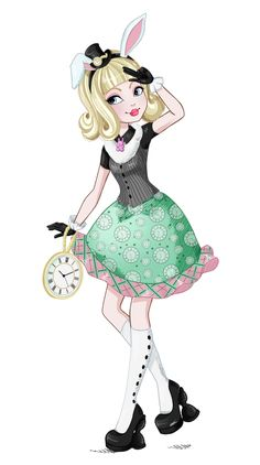 An other fanart of the Ever After High new releases. Bunny Blanc daughter of the White Rabbit from Wonderland. I hope you like it as much as you liked Rosabella  For more picutres like this:http://airinreika.deviantart.com/