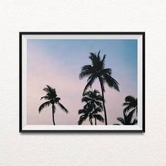 Palm print, Photography prints, Indie decor, Minimalist, Photography, Home decor, Pictures, Landscape photography, Best selling, beach decor