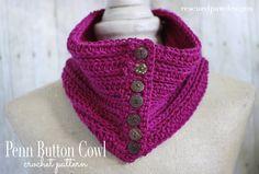 Penn Button Cowl - Free Crochet Pattern - Rescued Paw Designs