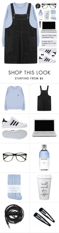 """Hard To Love"" by tania-maria ❤ liked on Polyvore featuring adidas, Toshiba, ZeroUV, Lord & Berry, Johnstons, Urbanears, Clips and Topshop"