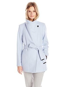 """Paria short button detail wrap coat with waist belt and button fastening       Famous Words of Inspiration...""""Philosophy:  A route of many roads leading from nowhere to nothing.""""   Ambrose Bierce — Click here for more from Ambrose...  More details at https://jackets-lovers.bestselleroutlets.com/ladies-coats-jackets-vests/wool-pea-coats/product-review-for-ted-baker-womens-paria-short-button-detail-wrap-coat/"""