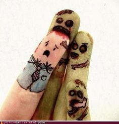Must Eat... Finger Nails...-some people have too much time on their hands..  ILOVEZOMBIES!!!