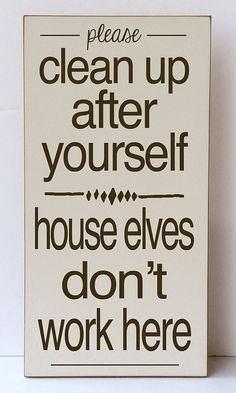 House Elves Wall Sign