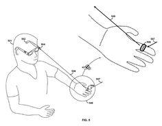 googleがメガネコンピュータの操作方法で特許取得。手の動きをカメラで認識。