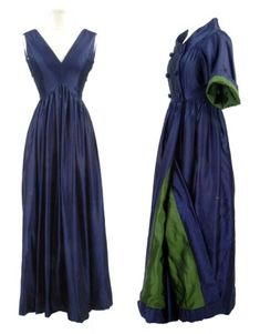 Evening Ensemble, Townley: 1960's, American, silk stain, gown skirt with organza backing, coat with silk satin lining.