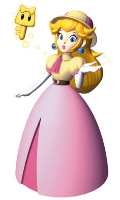Artwork of Peach in her unique explorer outfit from Mario Party [The Video Game Art Archive] [Support us on Patreon] Super Mario Bros, Super Mario Brothers, Super Smash Bros, Princess Peach Cosplay, Metroid, Princes Peach, Princesa Daisy, Peach Mario, Nintendo Princess