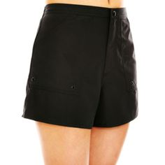 Add a little more coverage with versatile woven swim shorts that you can mix and match with your choice of swim tops.