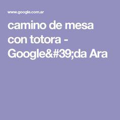 camino de mesa con totora - Google'da Ara