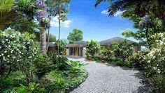Phuket luxury villas driveway