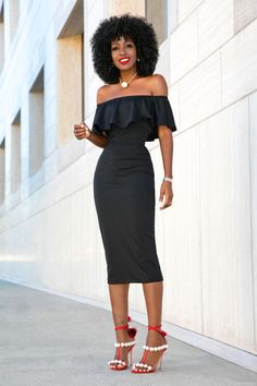 Frill Off Shoulder Dress