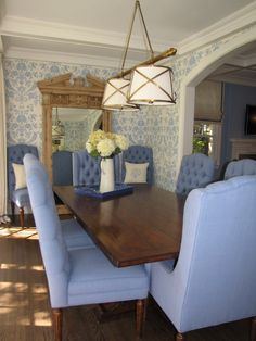 Grosvenor lighting, french country design with blue