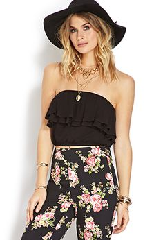 Ruffle-Trim Crop Top | FOREVER21 - 2000070085