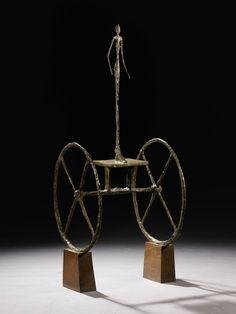 """Escultura """"Chariot"""" de Alberto Giacometti Se Vende Por Récord De $100MILLONES En Sotheby's Nueva York"""