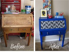 Inspired Whims: Secretary Desk Transformation