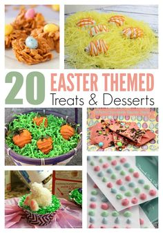 Potlucks were the norm as a child, where we'd enjoy a huge Easter egg hunt with our family and friends. If you still do parties, here are some great Easter themed desserts and treats to inspire you.