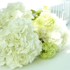 An Angel at My Table White hydrangea stems