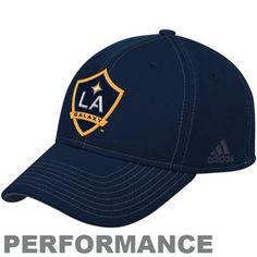 adidas L.A. Galaxy Authentic Coach's Flex Hat - Navy Blue
