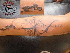 Chines tattoo: tattoo harley Davidson