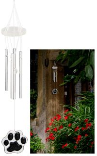Paw Print Wind Chime at The Animal Rescue Site