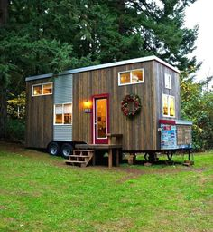 Tiny home with fun words