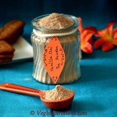 [ Recipe: DIY gifting idea, Homemade Vanilla Chai Tea Latte ] Made with: non-fat dry milk, powdered french vanilla non-dairy creamer, sugar, unsweetened ginger tea, ground ginger, cinnamon powder, ground cloves, ground nutmeg, and allspice powder. ~ from Veg Inspirations