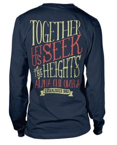 This shirt is so ridiculously cute... would be really great for a chapter anniversary shirt!