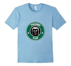 Men's Trump On The Cup T-Shirt 2XL Baby Blue Trump On The...