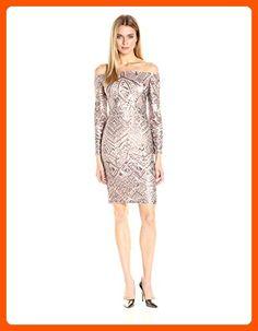 BCBGMax Azria Women's Eunice Knit Evening Dress, Rose Gold Combo, S - All about women (*Amazon Partner-Link)