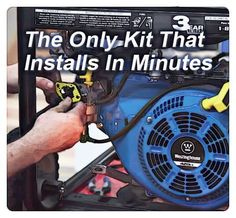 Make a generator quiet by using an old muffler diy garage generator conversion kits to propane and natural gas asfbconference2016 Image collections