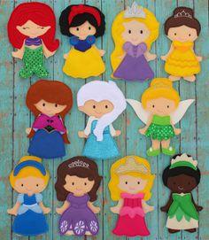 Felt Princess Non Paper DollsGreat for by SewSurprisingbyJamie