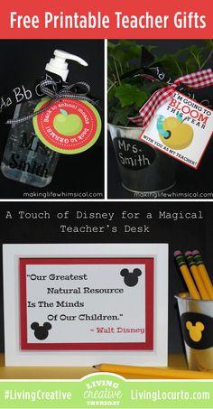 Free Printable Teacher Gift Ideas Featured on Living Creative Thursday at LivingLocurto.com #LivingCreative