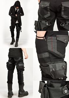 The new Dark Wave (21st Centurty) Attached holster skinny jean pants.
