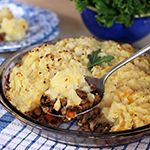forks over knives-Lentil Shepherd's Pie with Rustic Parsnip Crust