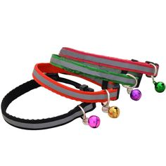 Pack of 4pcs Pet Dog Puppy Collars Durable Adjutable Collar with Bell * You can find more details by visiting the image link. (This is an affiliate link and I receive a commission for the sales)