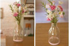 DIY - flores de tecido para enfeitar a casa. #fabric flowers #DIY