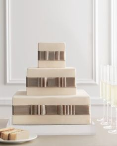 Wedding Cakes Decorated With Bows | Pretty Pleats | Martha Stewart Weddings