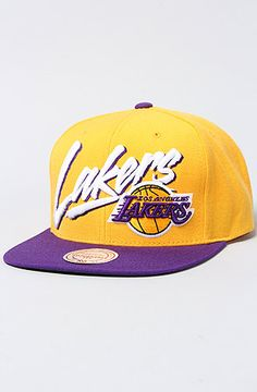 The NBA Vice Snapback Hat in Yellow & Purple by Mitchell & Ness Get 20% OFF when using repcode 'AireMaxx' @ Check out  It'll save u $TAXX