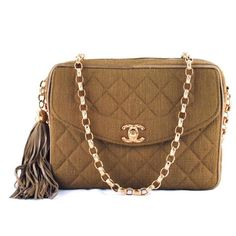 Chanel Camel Classic Quilted Camera Case Flap Bag - Bags - Vintage  ... ❤ liked on Polyvore