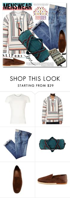 """Tribalover.com"" by svijetlana ❤ liked on Polyvore featuring Versace, Ermenegildo Zegna, men's fashion and menswear"
