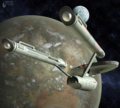 Enterprise in orbit!!!