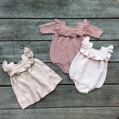 - Pattern update - Our Ruffle Romper & Ruffle Dress pattern has been updated in . - Diy And Crafts Baby Knitting Patterns, Kids Patterns, Dress Patterns, Crochet Bebe, Knit Crochet, Knitted Baby Clothes, Romper Pattern, Ruffle Romper, Knit In The Round