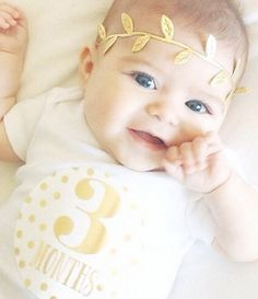 Lucy Darling Metallic Gold Monthly Baby stickers.