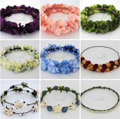 Accesorios para el pelo: Cucullia | Macara ByMartuka Diy Flower Crown, Flower Crowns, Baby Hair Bands, Floral Crown Wedding, Floral Headpiece, Hair Accessories For Women, Flowers In Hair, Diy For Kids, Headbands