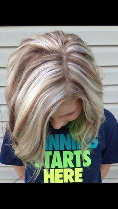 so hard making the blonde highlight hair