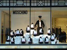 Moschino in London Christmas window display 2011
