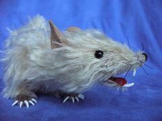 "Soft sculpture art, realistic rat ""Cere"" created by Karen Waschinski, $265"