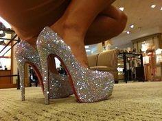 sparkly high heels!!