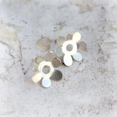 Sterling Silver Stud Earrings  Silver Post Earrings  by moiraklime, $58.00